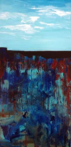 "The Harmony of Water,Earth,Sky, Acrylic, 24""-12"", $$0.0000"
